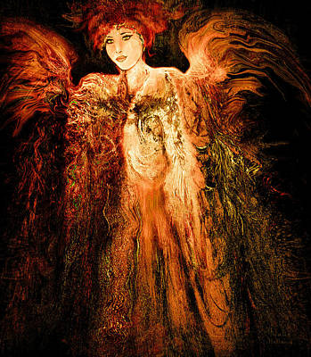 Mixed Media - Guardian Angel by Natalie Holland