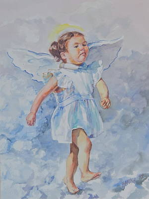 Guardian Angel Art Print by Sharon Jordan Bahosh
