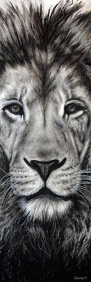 Animals Drawings - Guardian by Courtney Kenny Porto