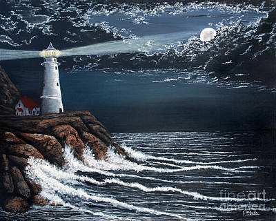Huntington Beach Painting - Guardian by Jeff McJunkin