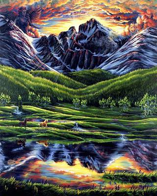 Painting - Guardian Of Longs Peak by Lori Salisbury