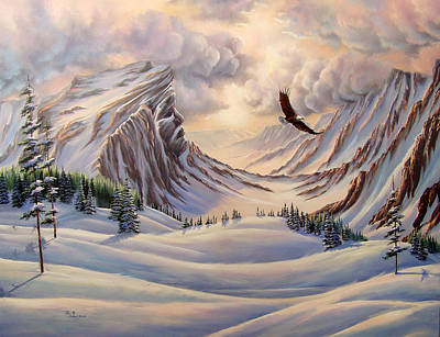 Cloud Painting - Guardian Of The Valley by Lori Salisbury