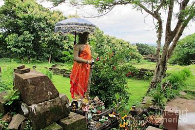 Photograph - Guardian Of Wat Phou by Ethna Gillespie