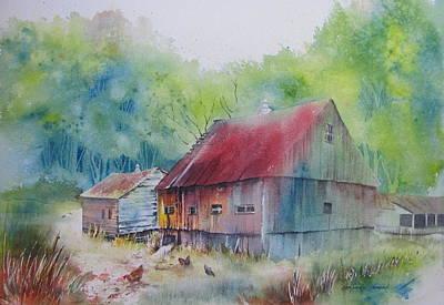 Barn Painting - Guardian Spirits by Amanda Amend