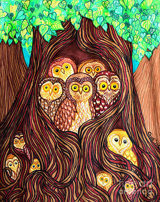 Fantasy Tree Mixed Media - Guardians Of The Forest by Nick Gustafson