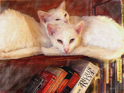 Digital Art - Guardians Of The Library by Jane Schnetlage