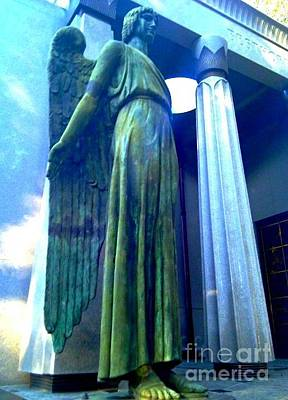Photograph - Guarding Dead Spirits At Lake Lawn Cemetery In New Orleans Louisiana by Michael Hoard