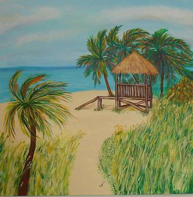 Painting - Guarding The Beach by Patti Lauer