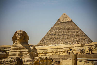 Photograph - Guarding The Great Pyramid by Anthony Doudt