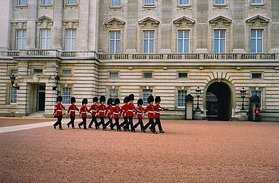Marching Band Photograph - Guarding The Palace by Denise Mazzocco