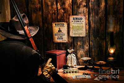 Treasure Box Photograph - Guarding The Payroll by Olivier Le Queinec