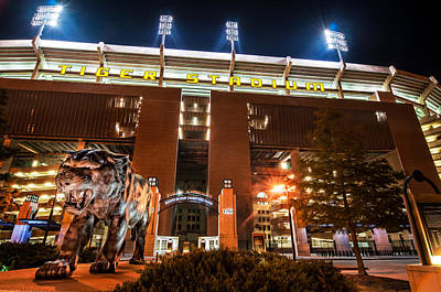 Louisiana State University Photograph - Guarding Tiger Stadium by Andy Crawford