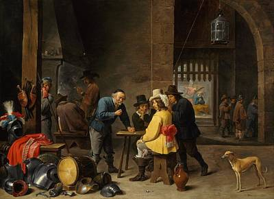 Deliverance Painting - Guardroom With The Deliverance Of Saint Peter by David Teniers the Younger