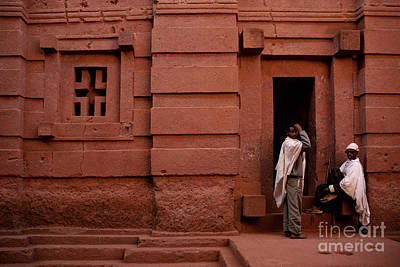 Photograph - Guards At Lalibela Rock Hewn Church In Ethiopia by Jacek Malipan