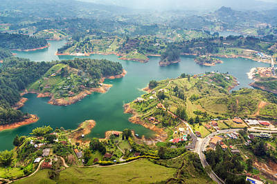 Guatape Photograph - Guatape Lake by Jess Kraft