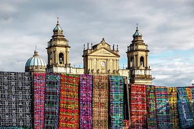 Clock Wall Art - Photograph - Guatemala City Cathedral by Francisco Mendoza Ruiz