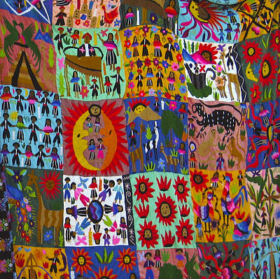 Photograph - Guatemala Folk Art Quilt by Kurt Van Wagner