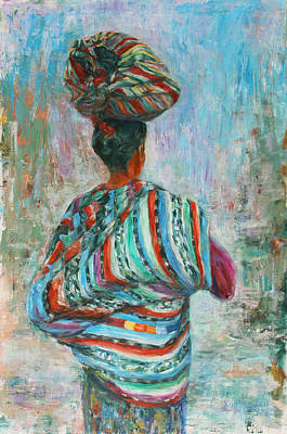 Art Print featuring the painting Guatemala Impression I by Xueling Zou