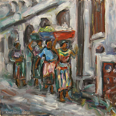 Painting - Guatemala Impression V - Left Hand 1 by Xueling Zou