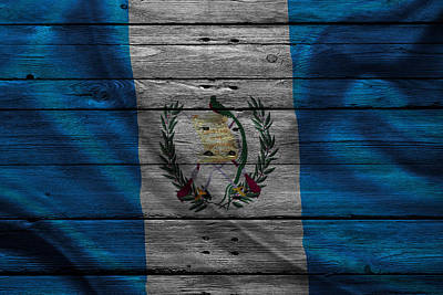 Flag Pole Photograph - Guatemala by Joe Hamilton