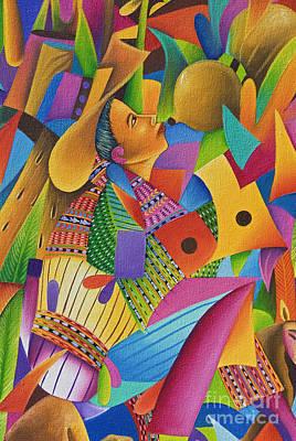 Panajachel Photograph - Guatemala, Lake Atitlan, Panajachel, Colorful Painting For Sale by Richard Maschmeyer