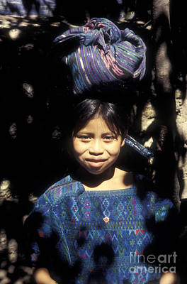 Photograph - Guatemala Smiling Maya Girl by John  Mitchell