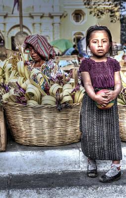 Semana Santa Wall Art - Photograph - Guatemalan Girl by Simon Northcott