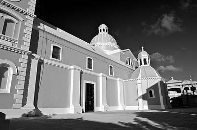 Photograph - Guayama Church And Plaza B W 3 by Ricardo J Ruiz de Porras