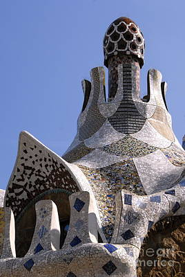 Digital Art - Guell Park In Barcelona by Leo Symon