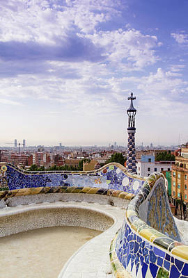 Photograph - Guell Park In Barcelona by Prognone