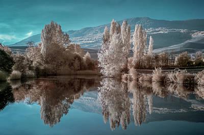 Guendulain Lake (infrared) Art Print