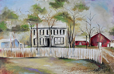 Guenther Family Home Art Print by Amanda  Sanford