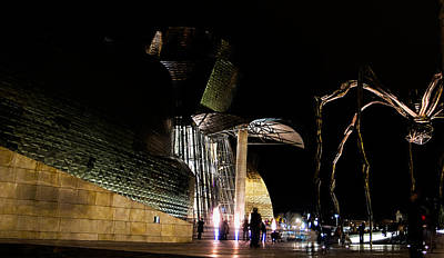 Photograph - Guggenheim And The Spider At Night by Weston Westmoreland