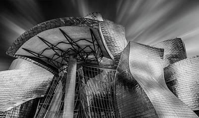 Metal Wall Art - Photograph - Guggenheim Bilbao (spain) by Martin Zalba