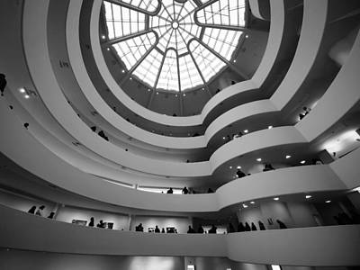 Print featuring the photograph Guggenheim Museum - Interior by James Howe