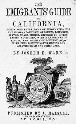 Instruction Painting - Guide To California, 1849 by Granger
