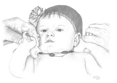 Drawing - Guiding Hands by Patricia Hiltz