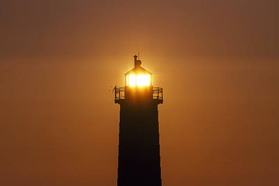 Grand Haven Photograph - Guiding Light - Wide by Joe Gee