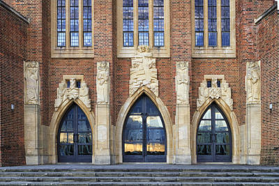Photograph - Guildford Cathedral Doors England by Shirley Mitchell