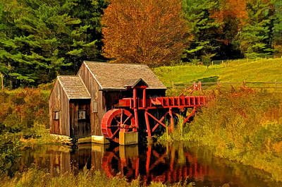 Photograph - Guildhall Grist Mill by Liz Mackney