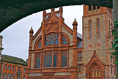 Photograph - Guildhall In Londonderry Northern Ireland by Charlie Brock