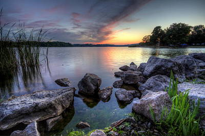 Photograph - Guilford Lake Sunset by David Dufresne