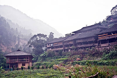 Photograph - Guilin Mountain Old Village by Marek Poplawski