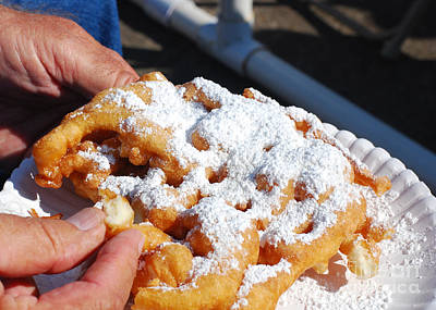 Photograph - Guilty Pleasure - Funnel Cake by Connie Fox