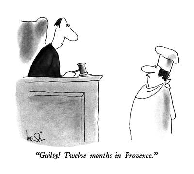 Food Drawing - Guilty!  Twelve Months In Provence by Arnie Levin