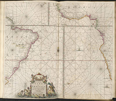 Cartography Photograph - Guinea And Brazil by British Library