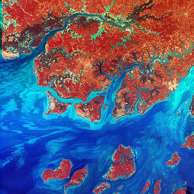 Digital Art - Guinea Bissau by USGS Landsat