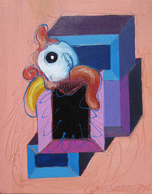 Painting - Guinea In A Box by Jeff Seaberg