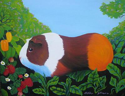 Cavy Painting - Guinguin by Sherri Carroll