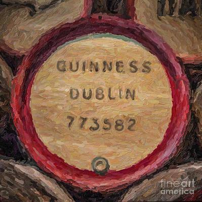 Digital Art - Guinness Keg by Liz Leyden